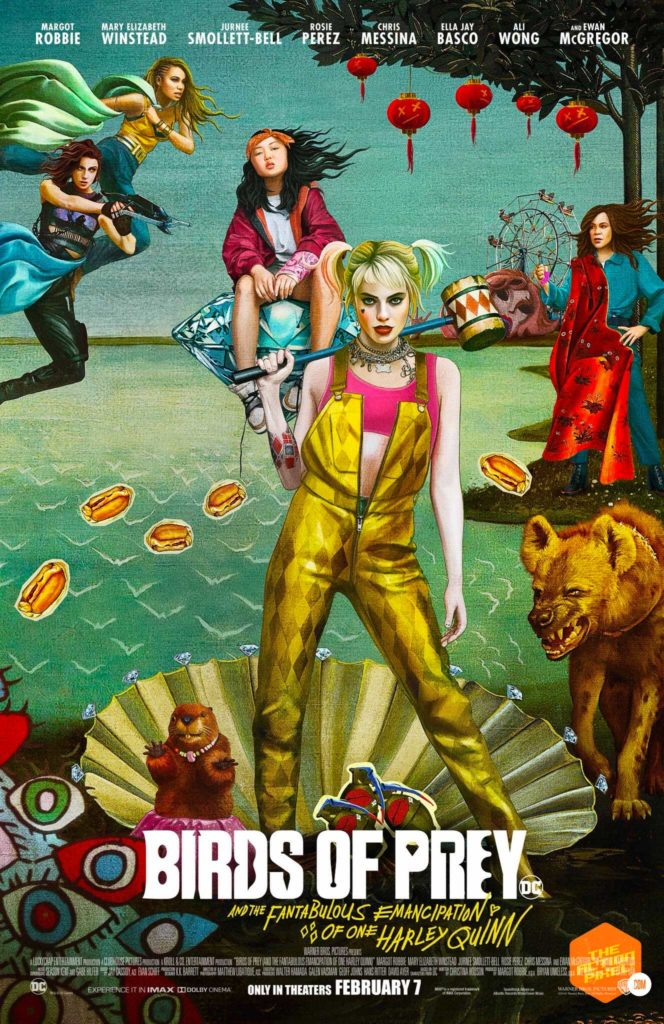 birds of prey poster, birds of prey, birds of prey movie, dc comics, wb pictures, warner bros pictures, harley quinn, margot robbie, the action pixel, entertainment on tap, featured,trailer, margot robbie harley quinn,birds of prey poster,birth of venus