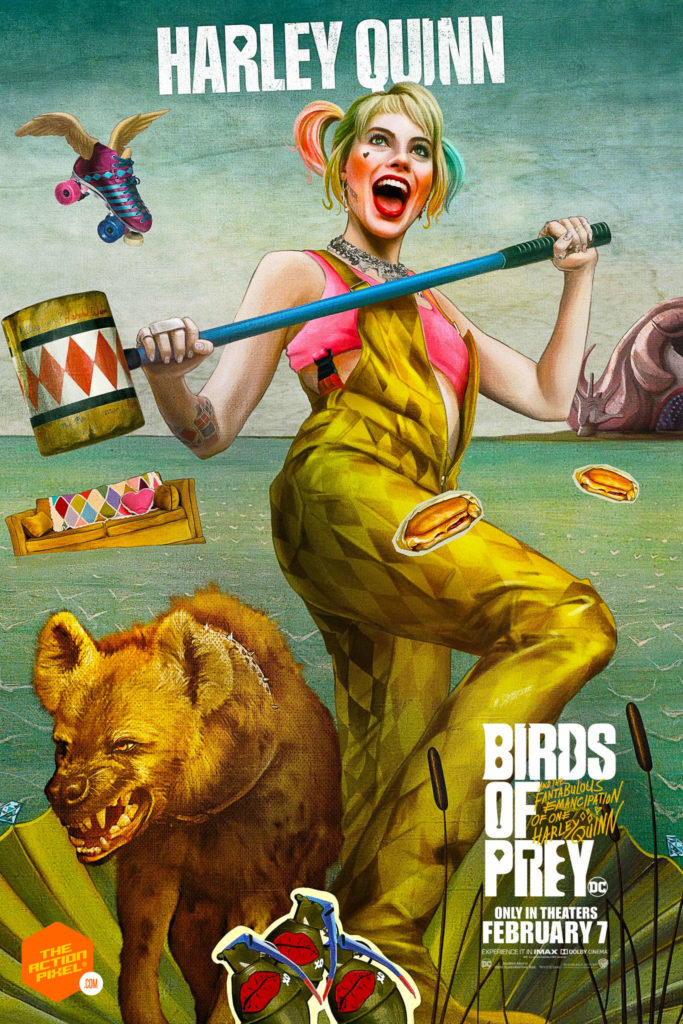birds of prey poster, birds of prey, birds of prey movie, dc comics, wb pictures, warner bros pictures, harley quinn, margot robbie, the action pixel, entertainment on tap, featured,trailer, margot robbie harley quinn,birds of prey poster,birth of venus, cassandra cain, victor zsasz, roman sionis, huntress, renee montoya, black canary,