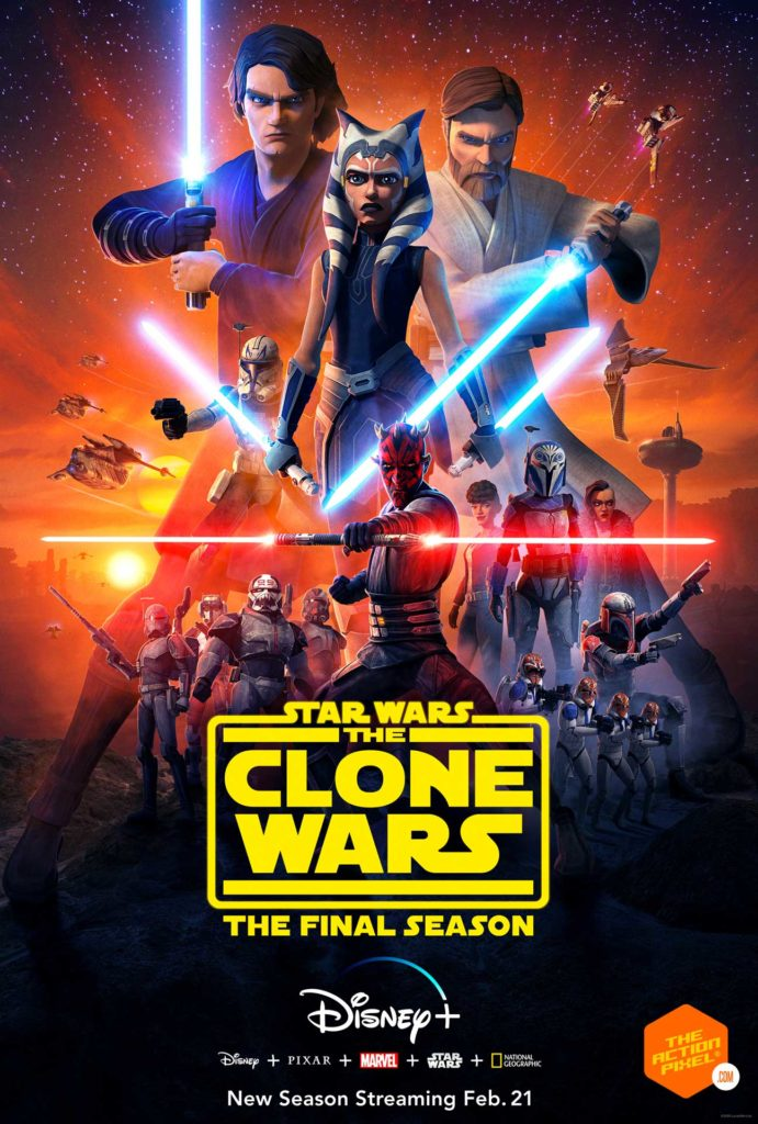 star wars: the clone wars, star wars, Annakin, Obi-Wan, Ahsoka Tano, , Darth Maul, clone troopers, disney plus, disney+ , the clone wars final season, season 7 the clone wars, star wars the clone wars season finale, star wars the clone wars final season, star wars the clone wars season 7, star wars the clone wars disney+, entertainment on tap, the action pixel, featured, star wars the clone wars poster, star wars: the clone wars season 7 trailer, star wars: the clone wars final season trailer,