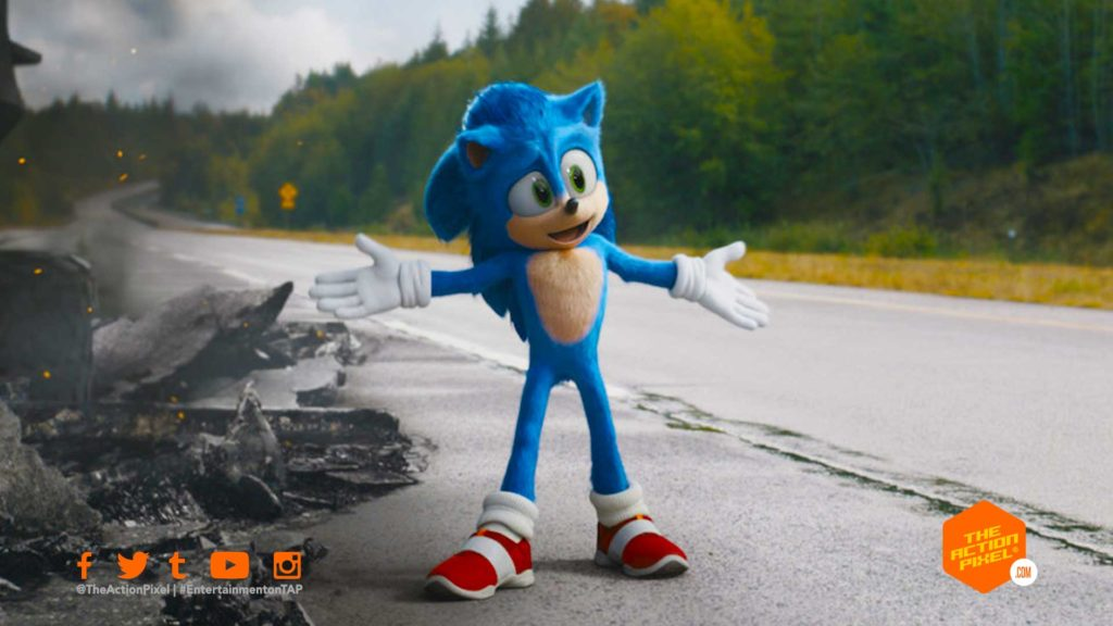 sonic the hedgehog, sonic, paramount pictures, the action pixel, entertainment on tap, poster, featured, paramount pictures, sonic movie, sonic movie trailer, sonic the hedgehog movie trailer, delays, sonic movie delayed, delay, sonic the hedgehog movie review,sonic the hedgehog 2020, featured, sonic, saanic,