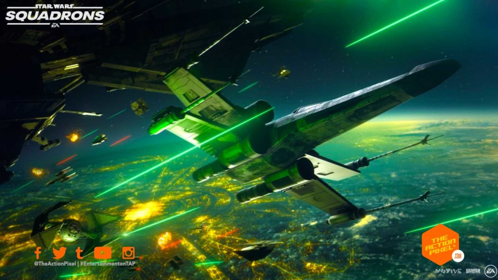 star wars: squadrons, star wars squadrons, ea star wars, ea star wars squadrons, star wars squadrons trailer, entertainment on tap, the action pixel, x-wing, tie fighter, ea games, ea, electronic arts, featured