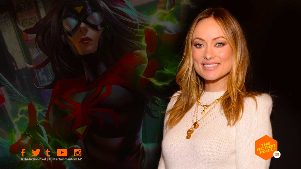 olivia wilde ,spider-woman, spiderwoman, sony pictures, sony, spider-man, sony marvel movie, marvel comics, spider-verse, the action pixel, entertainment on tap,