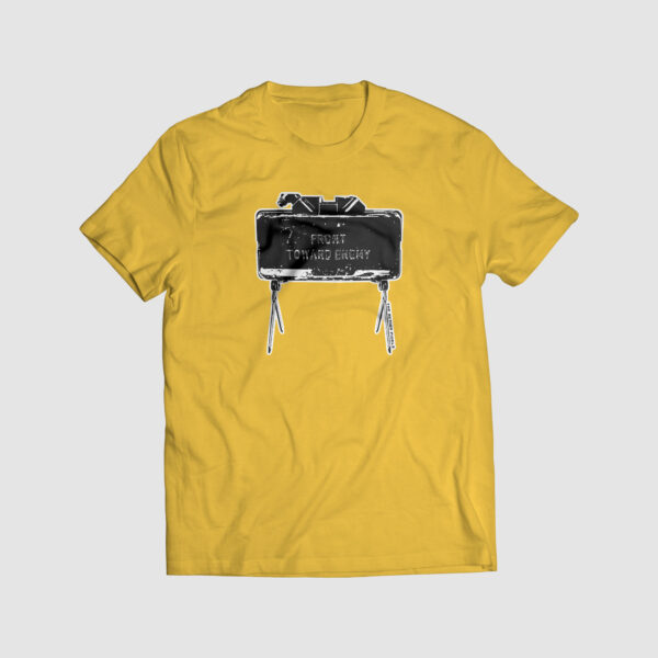claymore, front toward enemy, tshirt print, tshirt life, the action pixel, entertainment on tap,