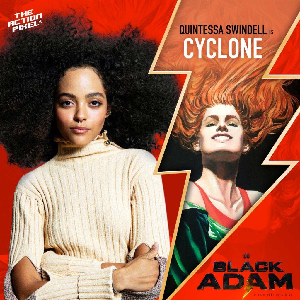 quintessa swindell, cyclone,black adam,black adam, dwayne johnson, the rock, black adam movie, dc comics, dc comics movie, dc black adam movie, wb pictures, entertainment on tap, featured,