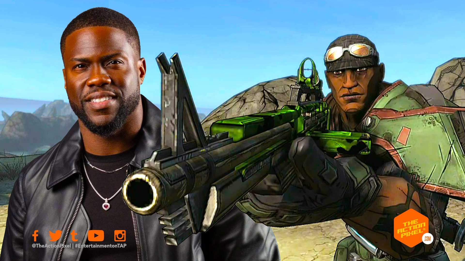 kevin hart, borderlands, entertainment on tap, gearbox software, the action pixel, entertainment on tap, featured,