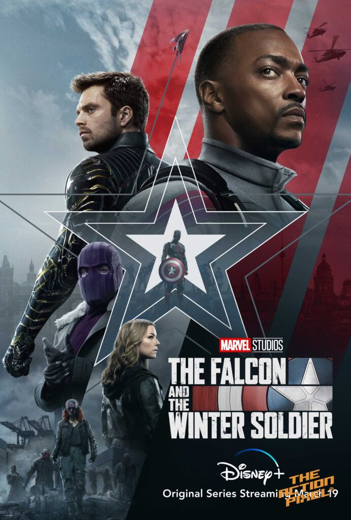 the falcon and the winter soldier, disney plus, disneyplus, disney+ , civil war, baron zemo, daniel bruhl, anthony mackie, sebastian stan, entertainment on tap, marvel studios, marvel comics, marvel, winter soldier, captain america, captain america: civil war, the action pixel, featured,the falcon and the winter soldier poster,