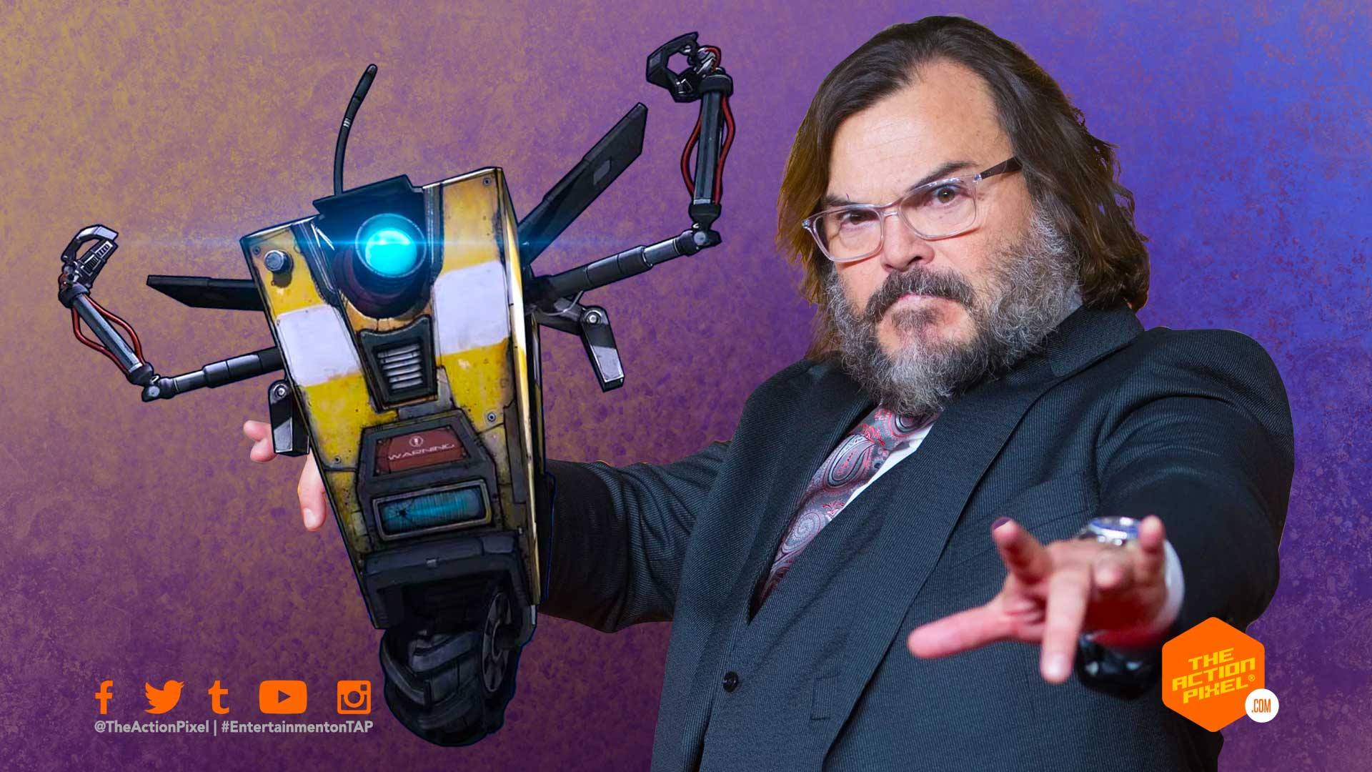 jack black, claptrap,borderlands, gearbox software, entertainment on tap, the action pixel, featured, eli roth, gearbox software,the action pixel, entertainment on tap, featured, borderlands,