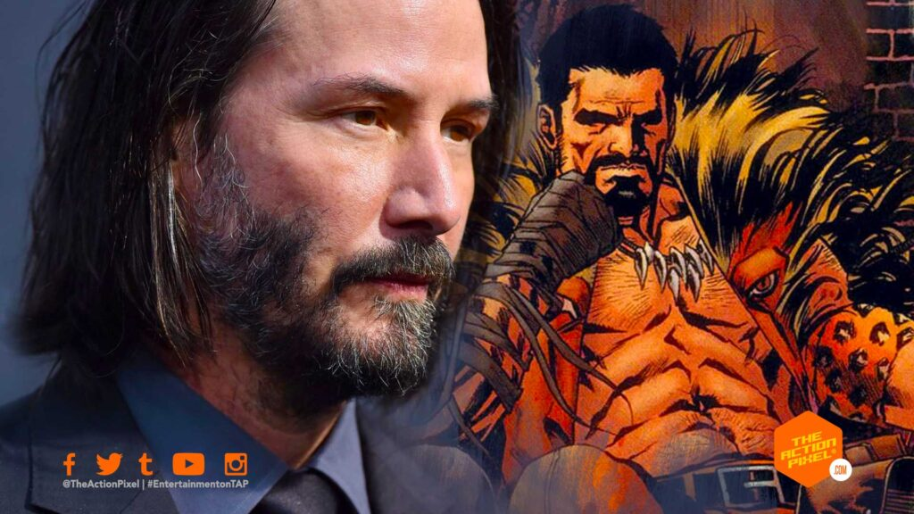 keanu reeves, kraven, sony pictures, the action pixel, entertainment on tap, marvel studios, kraven, sony pictures, spiderverse, entertainment on tap ,featured,