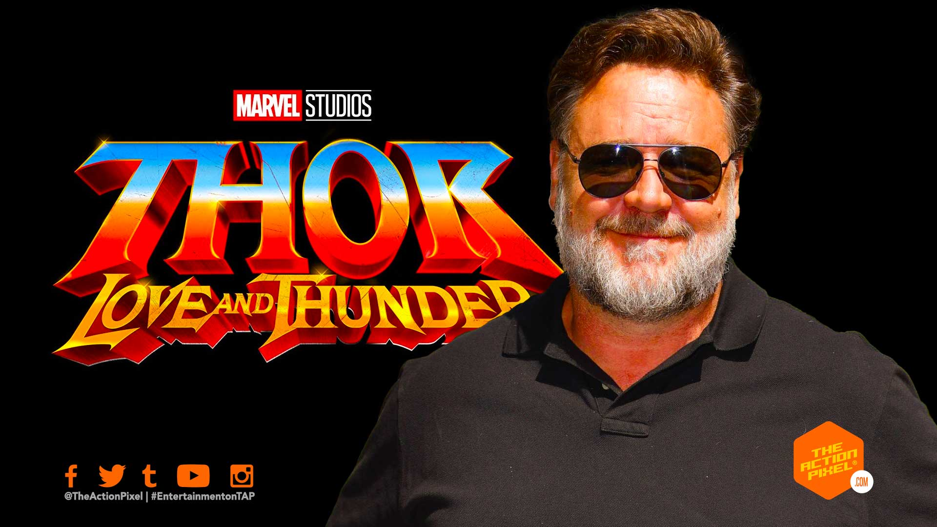 russell crowe, thor: love and thunder, entertainment on tap, the action pixel, featured, marvel studios, marvel,