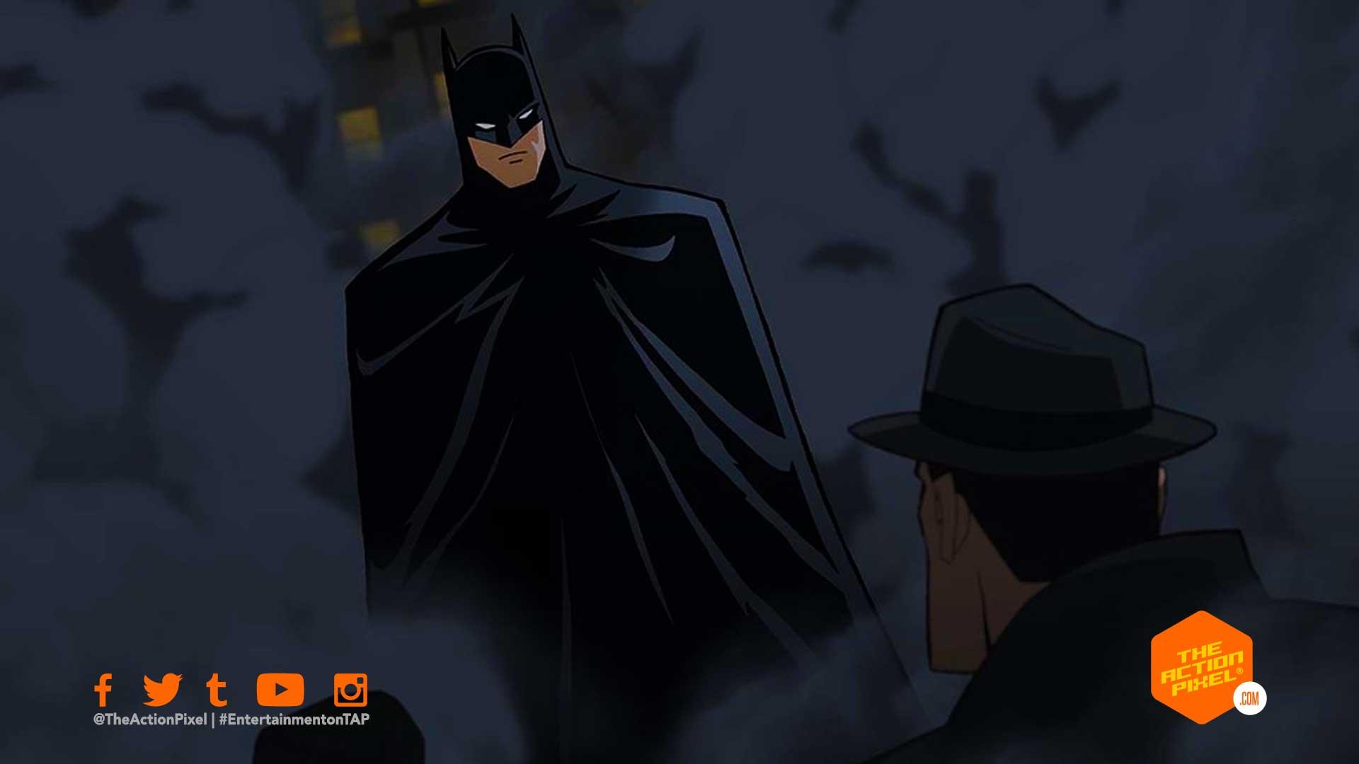 Jensen Ackles, batman, dc comics, wb animation, batman the long halloween, batman the long halloween part 1, batman: the long halloween part 1, batman the long halloween animation, batman, the long halloween,Batman: the long halloween,Naya Rivera ,,Catman,Selina Kyle, Josh Duhamel , Harvey Dent, Billy Burke , James Gordon,