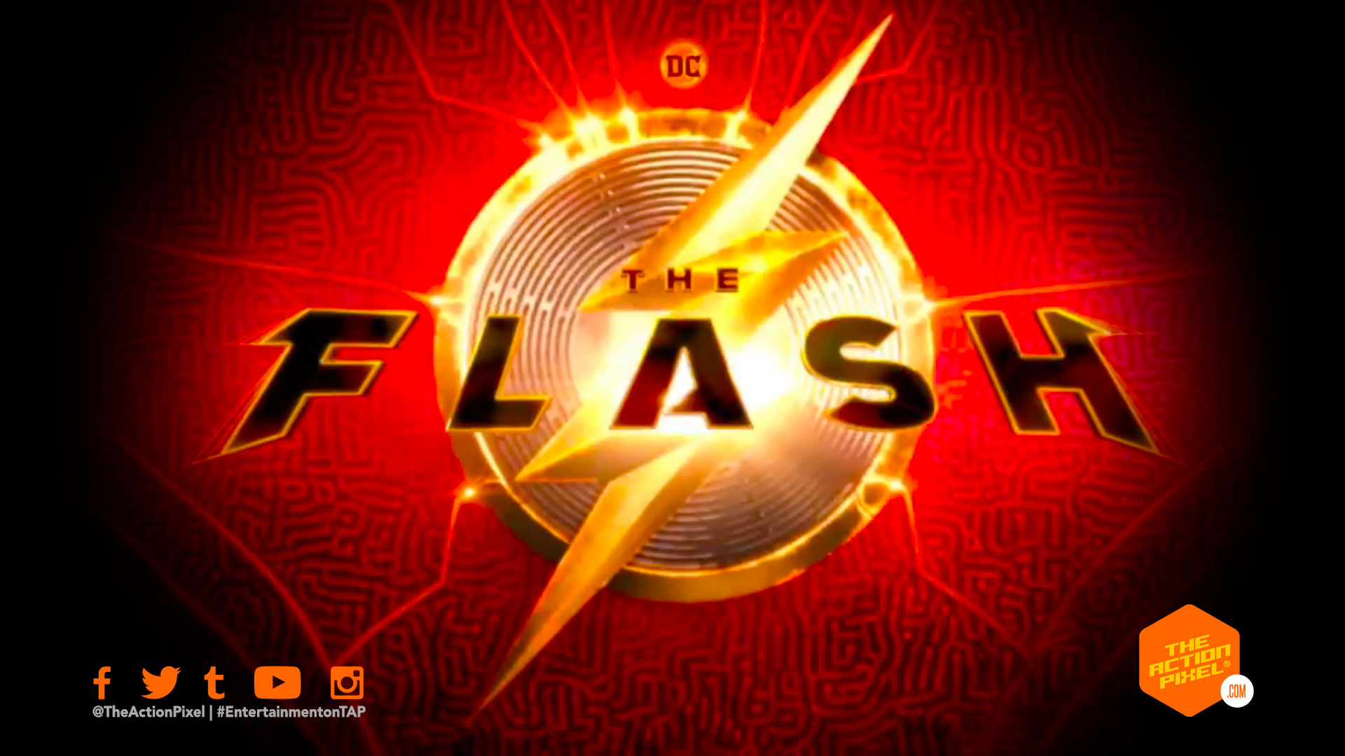 the flash logo, the flash , andy muschietti, the flash,batman, entertainment on tap, the action pixel, the flash movie, dc comics, wb pictures, warner bros. pictures, featured,