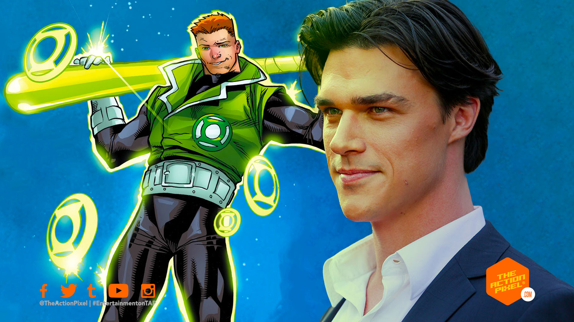 Finn Wittrock, guy gardner, the action pixel, entertainment on tap, the action pixel, hbo max, green lantern corps, green lantern corps tv series, featured,