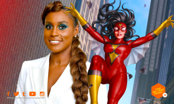spider-woman, issa rae, spiderwoman,insecure, insecure actor, spider-man: into the spider-verse sequel, spider-verse 2, into the spider-verse 2, apider-verse sequel, spider-man: into the spider-verse sequel, jessica drew, issa rae, entertainment on tap, the action pixel, sony animation, sony pictures, marvel comics, marvel, spider-man, spiderman, featured,