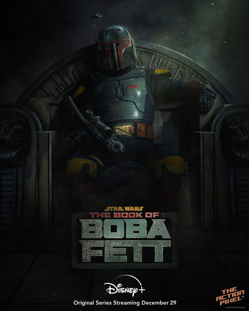 boba fett, the book of boba fett, the mandalorian, the mandalorian spin-off, boba fett disney plus, boba fett series, star wars boba fett disney plus, disney plus, disneyplus, disney+ , the book of boba fett disney plus, the book of boba fett release date, the book of boba fett star wars, the book of boba fett poster,, featured, the action pixel, entertainment on tap,